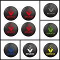 4 шт. 56 мм 60 мм 65 мм для RENAULT Sport Badge Logo Углеродные колпачки для центра сплава обода колеса наклейки втулки