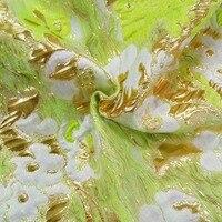 2018 hot sale fashion the golden eternity high end gold jacquard silk fabric for dress tissu au meter bright cloth DIY GD11
