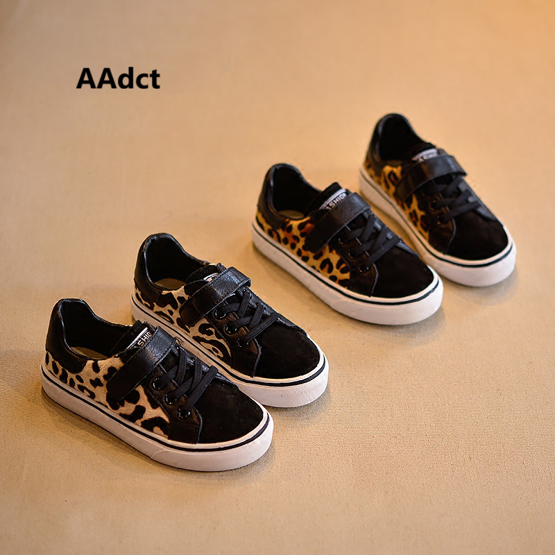 AAdct 2018 girls shoes new fashion spring Leopard kids shoes for girls Brand running sports little children shoes sneakers