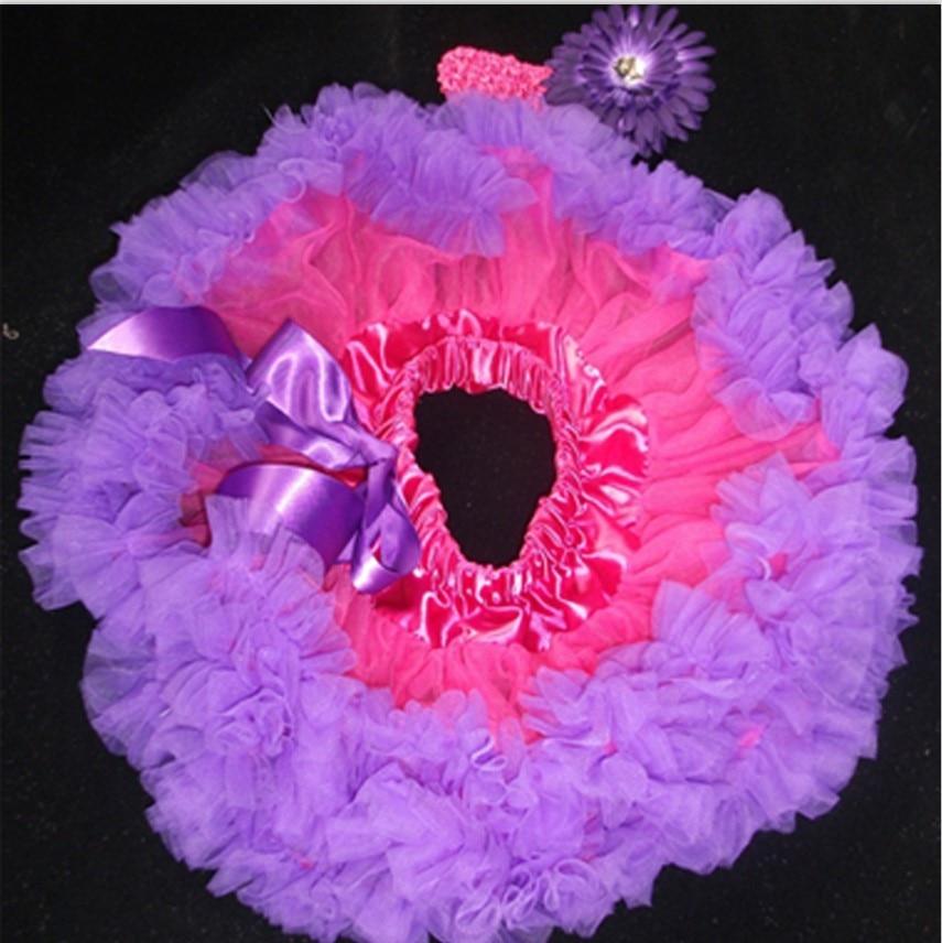 Butu одежда для малышей крещение новорожденного petti юбка повязка на голову цветные балетные пачки наборы детские фото реквизит - Цвет: Фиолетовый