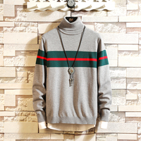 2018 winter sweater turtleneck men pullover ribbed sweater men Thick knit large size 5XL long sleeve sweater for men