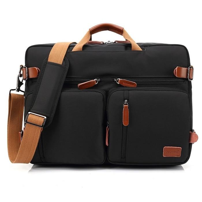 Us 31 98 28 Off Handbag Business Briefcase Rucksack Convertible Backpack Laptop Bag 15 17 3 Inch Notebook Shoulder Messenger Case In