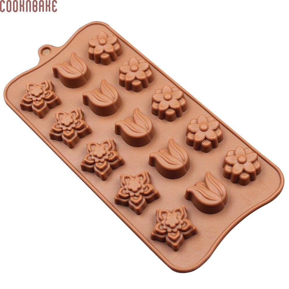 COOKNBAKE DIY silikonové kostky ledu Květiny Tulipány 15Latices DIY Čokoláda Ice Forma na dort formy CDSM-001 CDSM-001