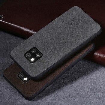 Luksusowy telefon etui na Huawei Mate 9 10 20 lite P10 P20 lite Pro przypadku zamszowe skórzane etui do Honor 8 8X9 10 tylna pokrywa