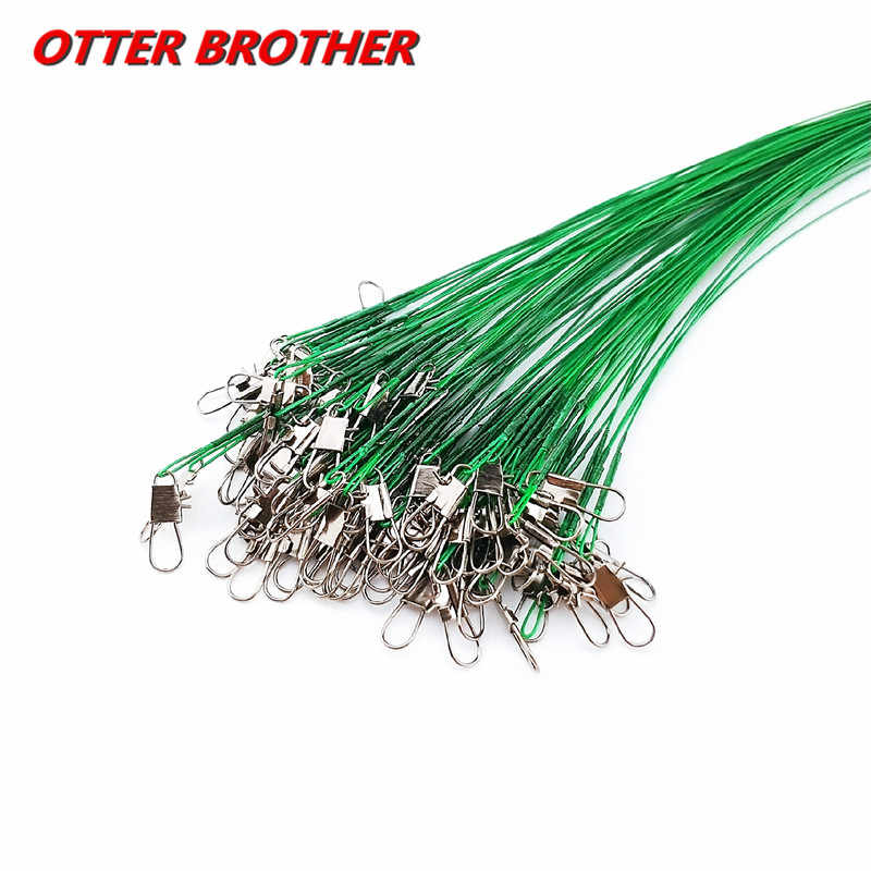 抗一口鋼釣り糸鋼線リーダースイベル 1 個 15 センチメートル、 20 センチメートル、 25 センチメートル、 30 センチメートル釣りトレーリーシュラインスピナー