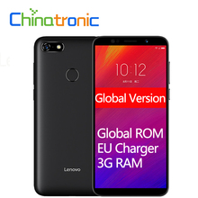 Küresel Sürüm Lenovo A5 L18021 4G FDD LTE Cep Telefonu 3 Kart Yuvası MT6739 Quad-Core Çift SIM 5.45
