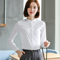 Pearl Blouse Shirt Women Long Sleeve Cotton White Womens Tops And Blouses Korean Blusas Mujer Plus