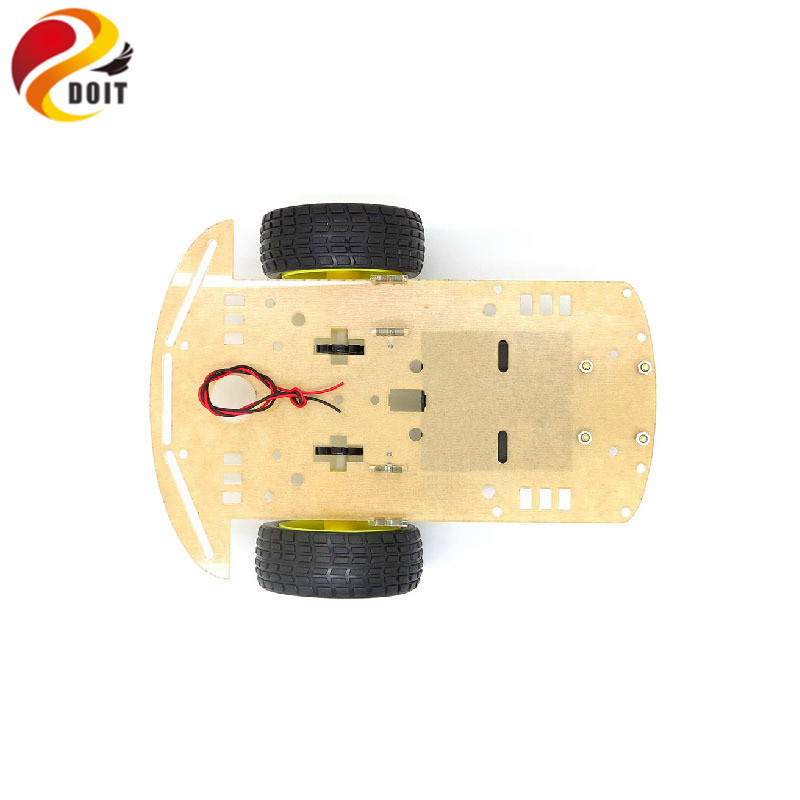 PCduino Smart Intelligent Car Chassis Learning Suite Special Acrylic Board Battery Box Pack UNO R3 1280 328 RC DIY