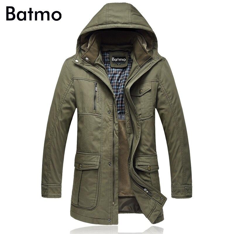 1af4f2171d1 Batmo 2018 Новое поступление Зима Высокое качество Толстые куртки с капюшоном  Мужские