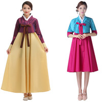 Long Sleeve South Korean Traditional Costume Lady Hanbok Dress Minority Clothing Women Stage Dancing Costume Cosplay Costume 16