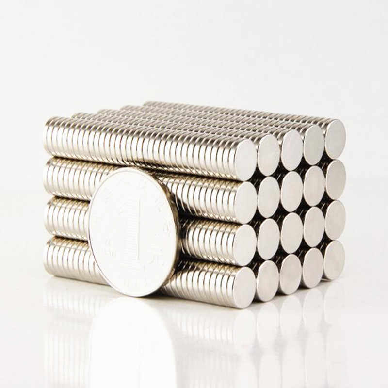 "LEDERE 1000 יחידות 8 מ""מ x 1.5 מ""מ חזק עגול דיסק 8x1.5 Neodymium מגנט 8*1.5 אמנות מלאכת חיבור 8 מ""מ * 1.5 מ""מ"