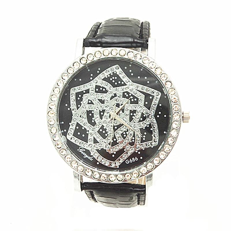 Gratis frakt! Promotion! Gerryda 2013 mode damer klockor G686, mangjord diamant dekoration fall och dial, kvarts rörelse