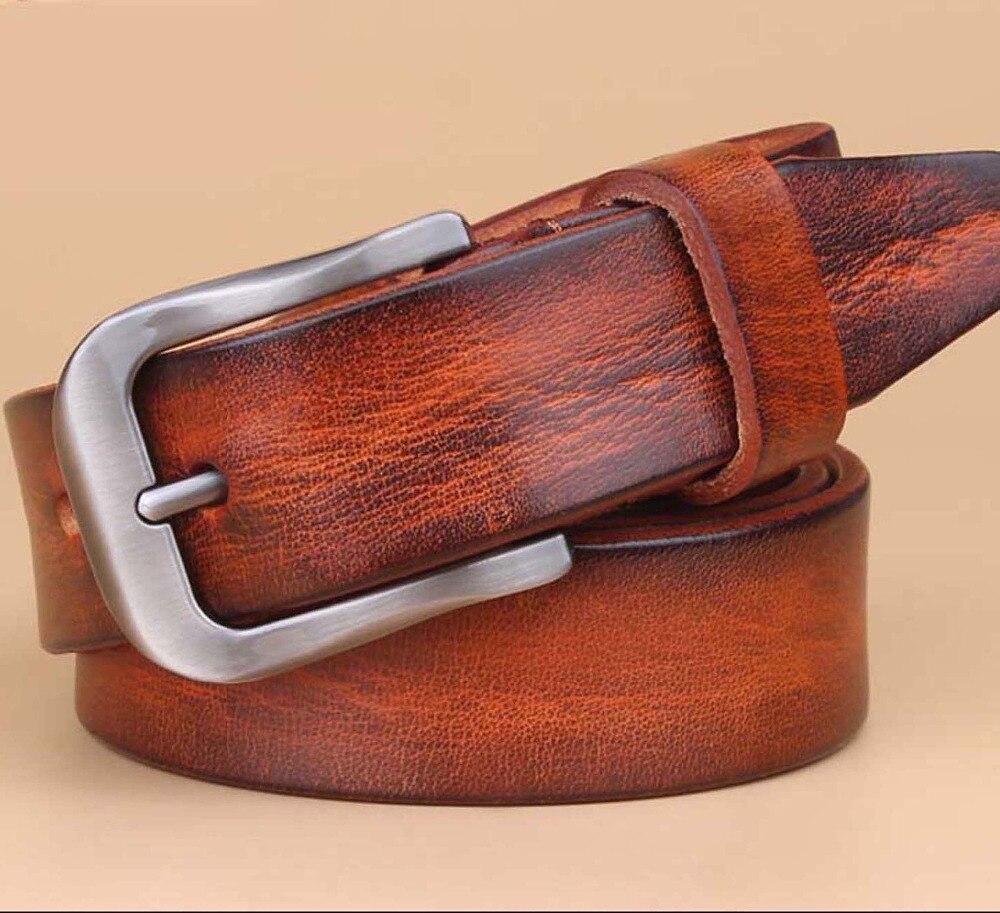 48fd737386dd En gros et au détail de cuir Véritable femmes ceinture de mode vintage métal  gaufrage en cuir ceintures pour femmes sangle femelle boucle ardillon