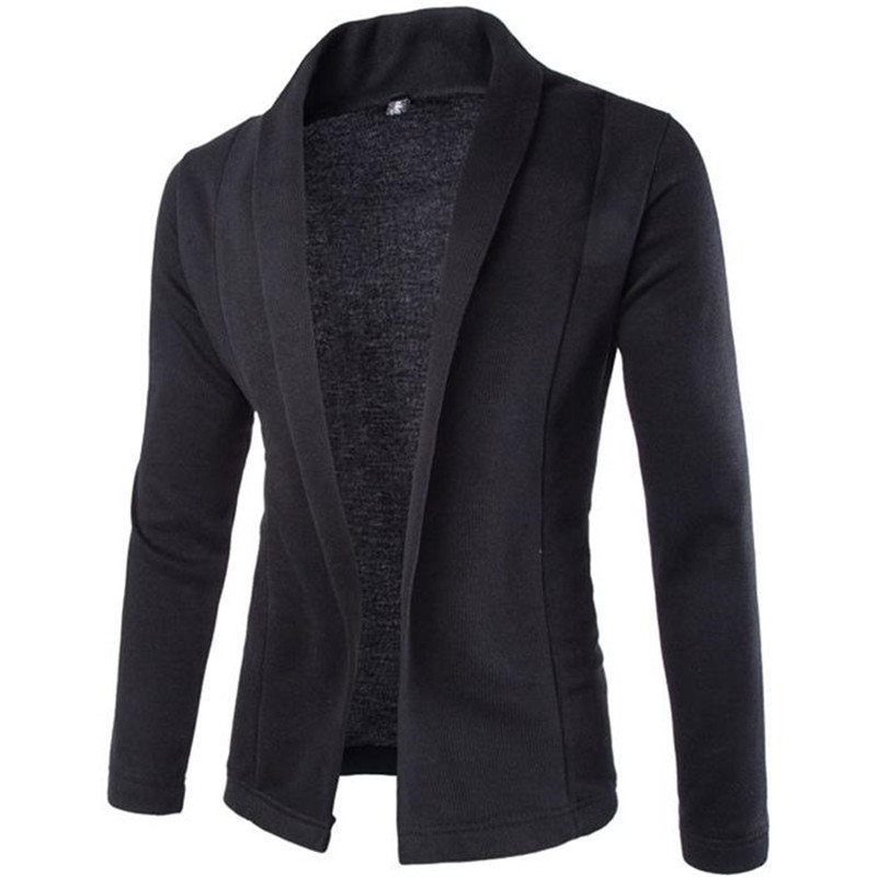 Men Cardigan Sweater V-Neck Knitted Long-Sleeve Slim High-Quality Solid GD505 Hot-Sale