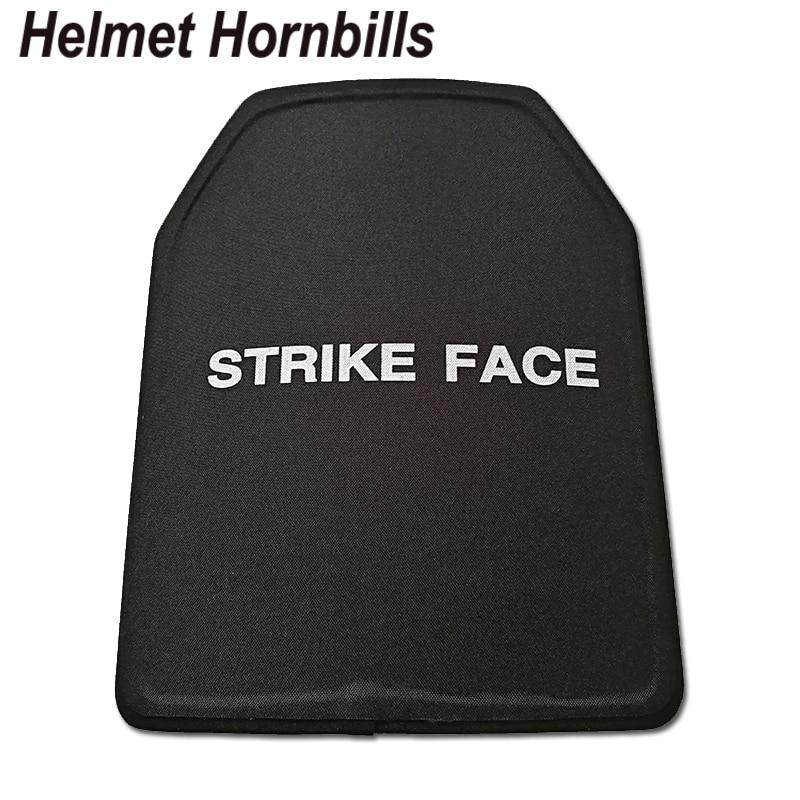 Helmet Hornbills 2pcs/Lot 11 X 14 Inch UHMWPE NIJ Level IIIA Bulletproof Panel/Level 3A Stand Alone Body Armor Ballistic Plates