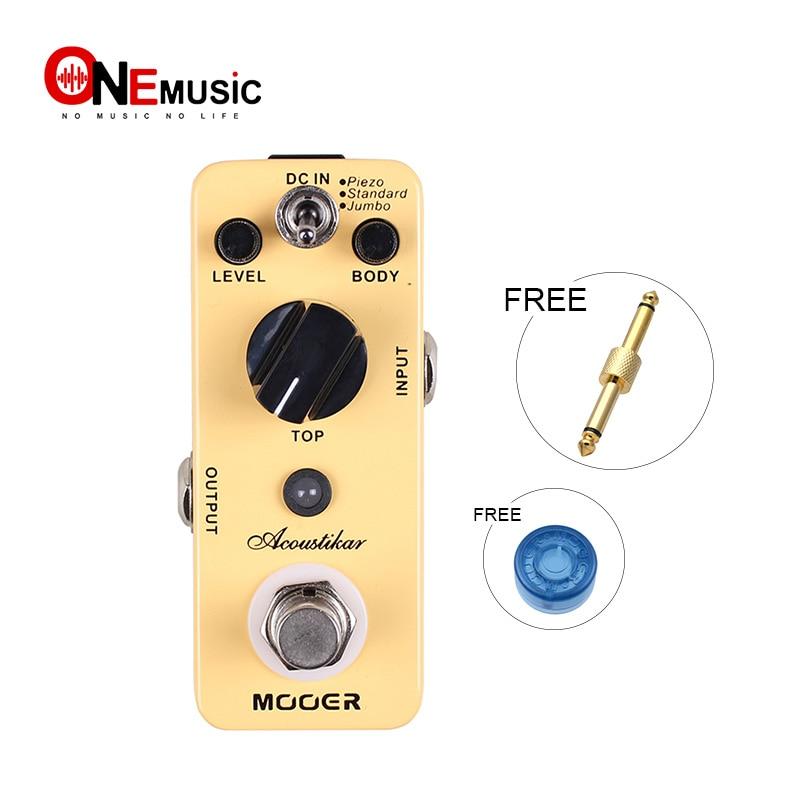 Mooer Acoustikar Acoustic Simulator Guitar Effect Pedal 3 Working Modes Piezo Standard Jumbo Full Metal Shell