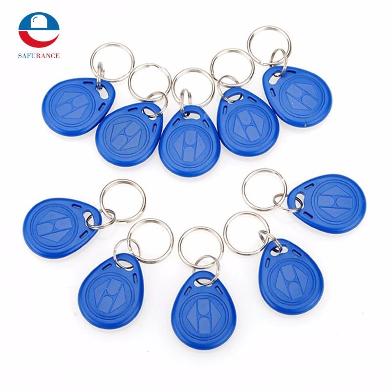10pcs 125kHz RFID Proximity ID Token Tag Key Keyfobs Keychain Chain Plastic  For Access System turck proximity switch bi2 g12sk an6x