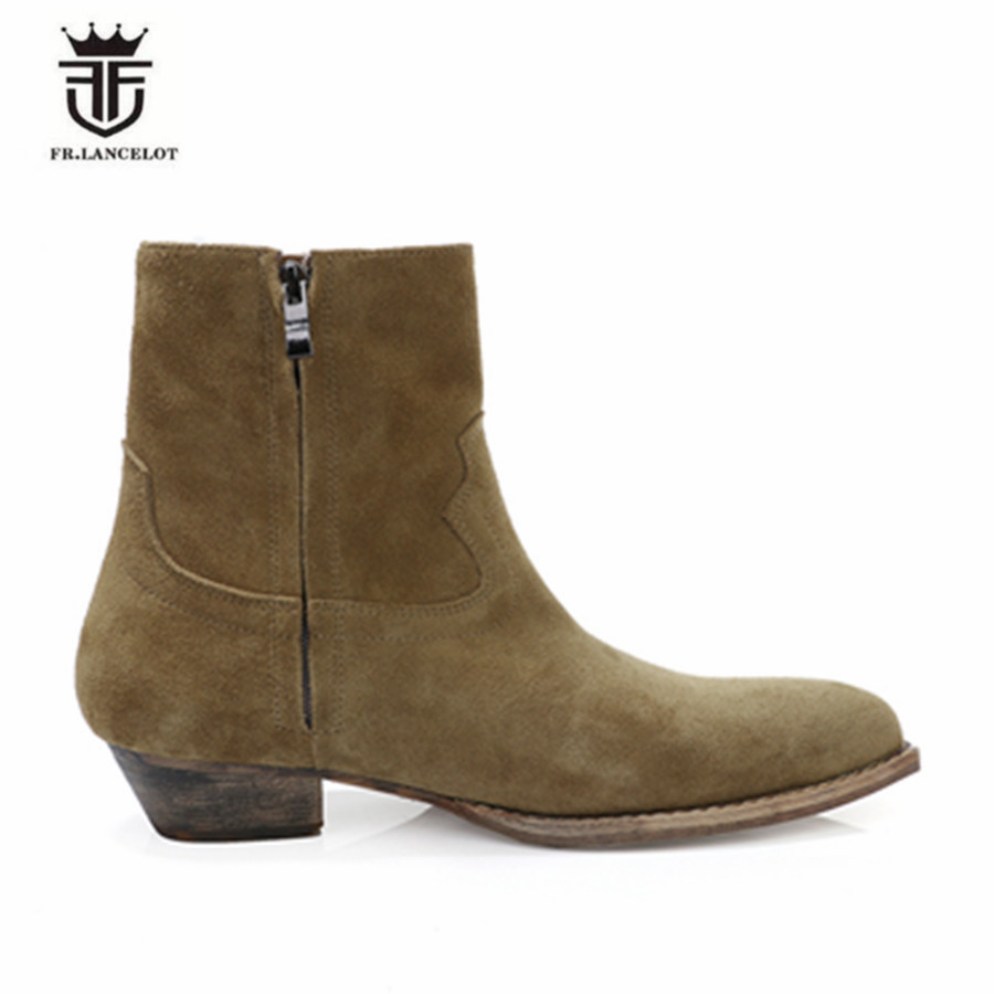 Los Aumento 1 2019 Hecho Europa 3 Chelsea Fondo 2 Cuadrada Grueso De Zapatos Hombres Botas A Madera Cabeza Nuevos Mano Raíz Martin nWXqdHTcq
