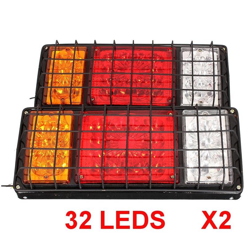 1 пара 12V/24V СИД задний стоп сигнал поворота грузовик стоп задний хвост Индикатор обратного лампы грузовик с прицепом