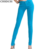 18 Colors Jeans 2016 New Sexy Women Pants Spring Summer Fashion Pencil Pant Lady Skinny Long