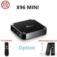 S905W 7 1 2 X96 Mini Android TV Box Amlogic Quad Core Full HD 4 K