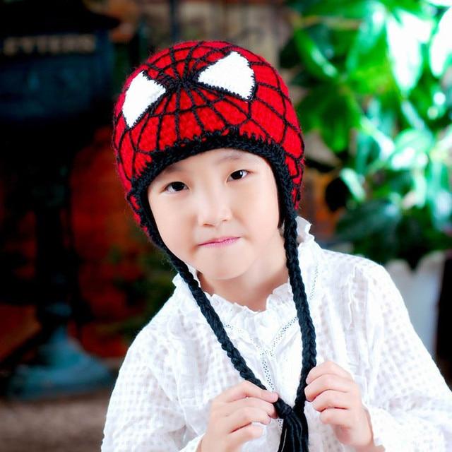 hot selling Baby Infant children Crochet wholesale Crochet Spiderman Hats  Children Cartoon Beanies for Toddler Super Hero s 7323416ed98