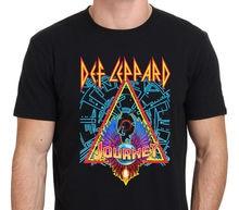 bde0271e8c6 Def Leppard with Journey North American Tour Black T-shirt Mens Hip Hop  Clothing Cotton