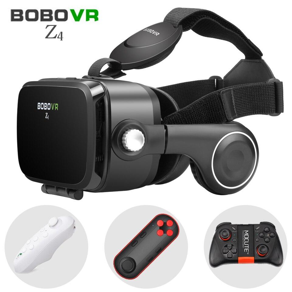 BOBOVR VR Z4 3D Lunettes de Réalité Virtuelle lunettes google carton BOBO VR BOÎTE 2.0 avec Casque pour 4.3-6.0 pouce smartphones