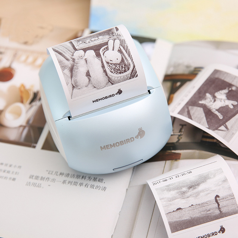 Mini Photo Printer Wifi Barcode Printers Portable Thermal Printers phone Wireless Remote Control 1