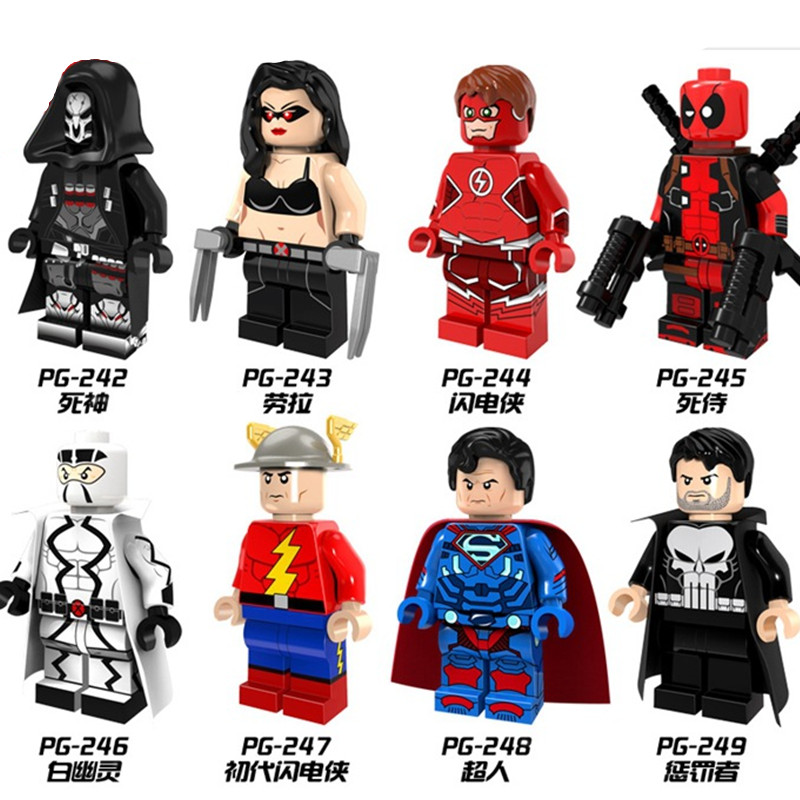 Single Sale PG8063 Building Blocks Punisher Deadpool White Ghost Death Figures Super Heroes Star Wars Action Bricks Kids DIY Toy 1pc imperial death trooper rogue one 75156 diy figures star wars superheroes assemble building blocks kids diy toys xmas