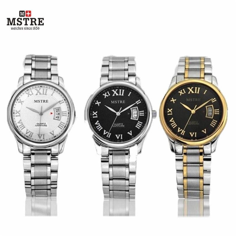 Luxury Brand Watch Mstre Quartz Watch Lover's Round Hardlex Complete Calendar 316L Teel Tungsten Waterproof Men Women Watches aune past printsi poole teel