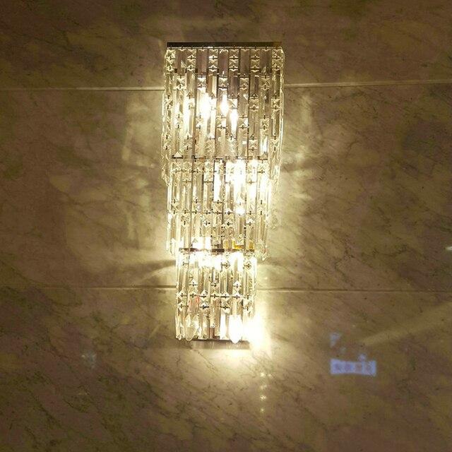Moderne Wandleuchte Kristall Wandleuchte Mode Großes Wohnzimmer Luxus Große  Wandleuchte Schlafzimmer Wandleuchte Villa Hotel Kristall Wandlampen
