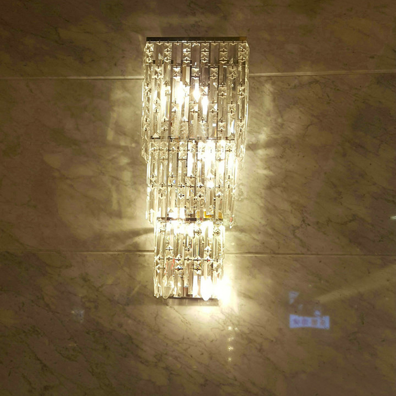 sconce Modern crystal wall light fashion large living room ...