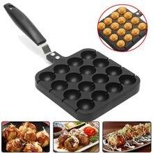 16 Löcher Takoyaki Grillpfanne Platte Form Krake Ball Maker Mit Hause Griff Kochen Backen Dekorieren Werkzeuge Küche Zubehör