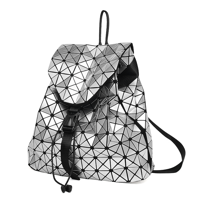 Women Backpack Feminine Geometric Plaid Sequin Female Backpacks For Teenage Girls Bagpack Drawstring Bag