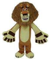 Лидер продаж взрослых Мадагаскар Лев Алекс Маскоты костюм животного Маскоты взрослый костюм Бесплатная доставка