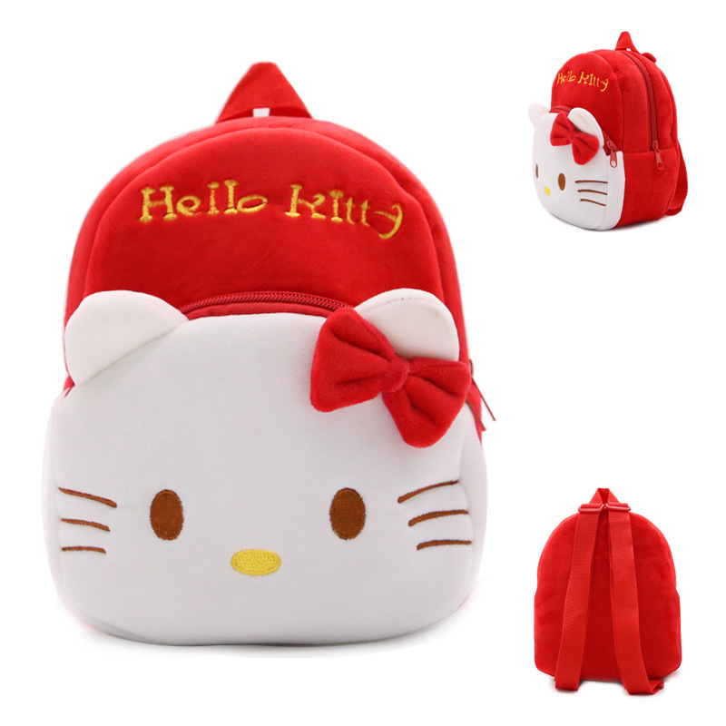 New-arrival-children-plush-backpack-cartoon-bags-kids-baby-backpack-school-bags-Hello-Kitty-bags-for-kindergarten-girls-baby-4
