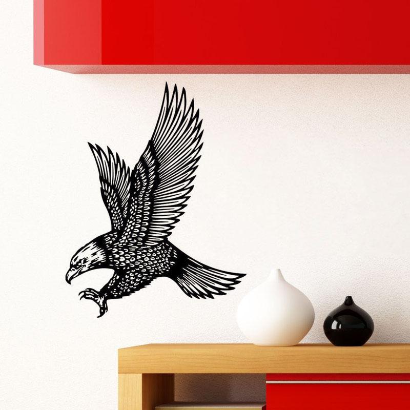 Popular wall decor birds buy cheap wall decor birds lots for Eagle decorations home