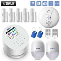 KERUI W2 2,4 дюймов Экран WiFi GSM PSTN сигнализации Системы безопасности пожарной сигнализации дыма умная домашняя охранная сигнализация Системы RFID