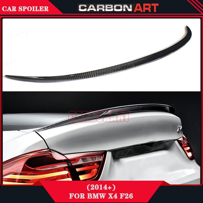 2014 2015 X3 X4 M Design style aftermarket car spoilers carbon fiber F25 F26 carbon rear wing racing trunck spoiler for bmw какой смартфон в 2014 2015