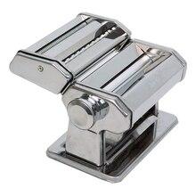 Тестораскатывающая машина GEMLUX GL-PMF-180 (Механическая, ширина раскатки 180 мм, съемная насадка-лапшерезка (тальолини 2 мм/феттучине 6,25 мм), хромир.сталь)