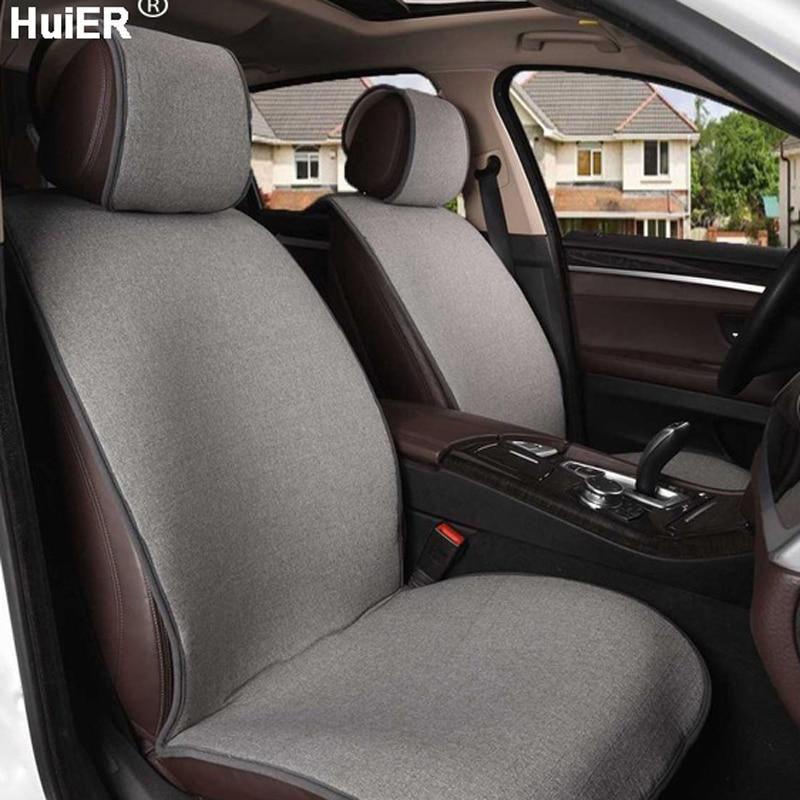 Huier лен автокресло Чехлы для подушек Автомобиль Стайлинг 4 Seasons универсальный дышащие Нескользящие сиденья автомобильных сидений протектор