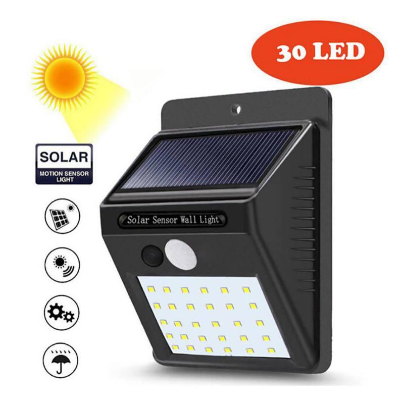 LED Solar Power PIR Motion Sensor Wall Light 30 LED Outdoor Waterproof Energy Saving Garden Solar Lights Security Lamp