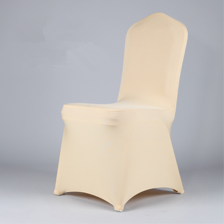 100pcs per lot high quality light gold LIGHT CHAMPAGNE Color Spandex Lycra chair cover for Wedding hotel chair cover