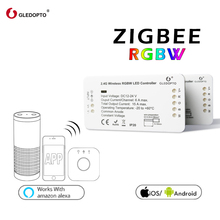 GLEDOPTO ZIGBEE link light RGBW controller zll led strip controller dc12-24v smart phone app control work with Amazon alexa rgbw