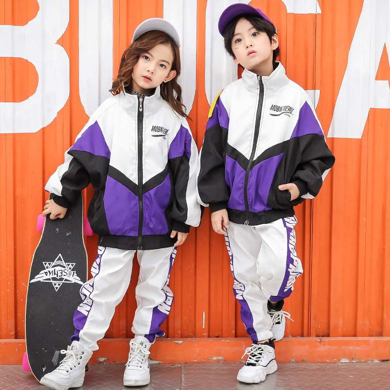Children Hip Hop Ballroom Dancing Clothes for Girls Boys Jazz Costume Dance Clothing Top and Pant Streetwear show Танец