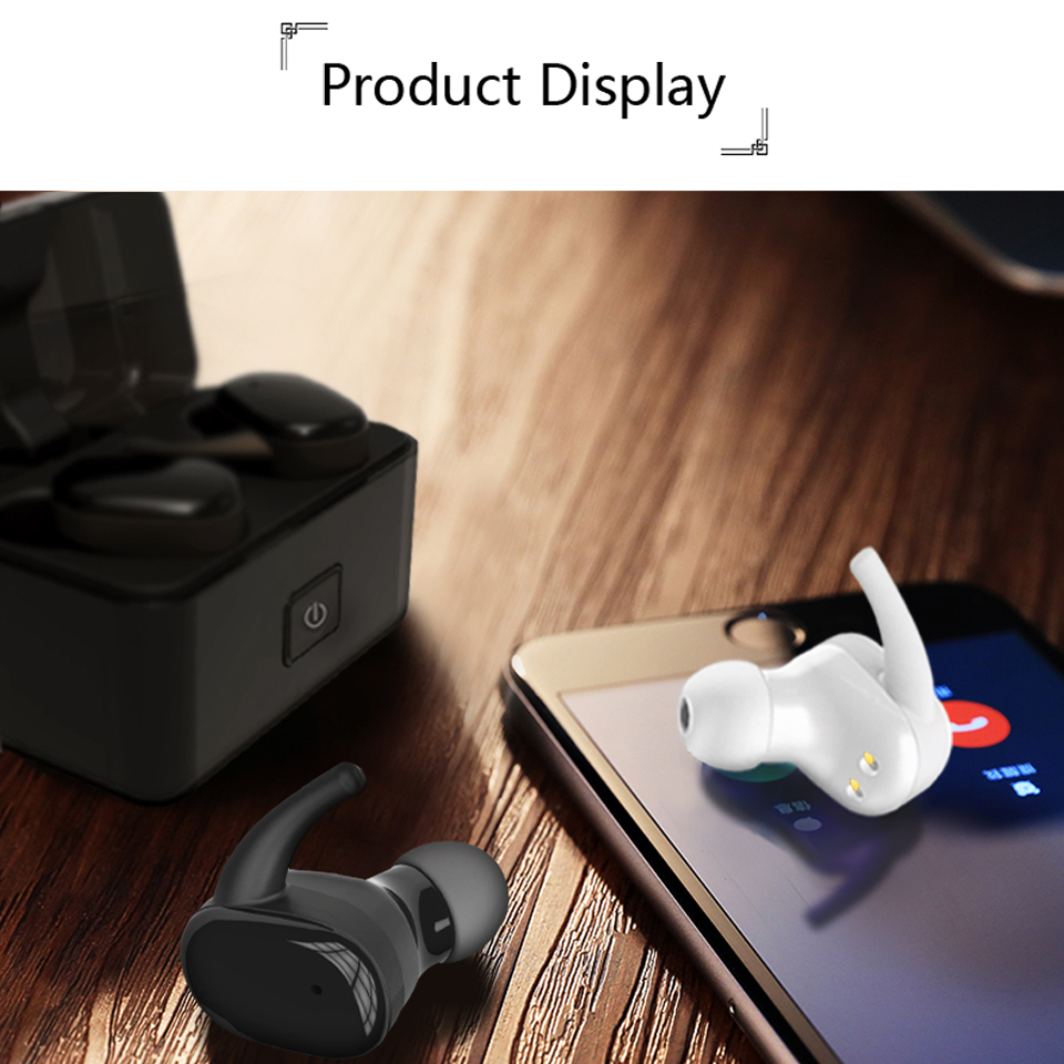 In-ear Bluetooth Earphone With Charging Box Wireless Charging Hand Free With Mic Stereo Bass USB Earpiece Hidden Invisible Phone egrincy x11 mini bluetooth car earphone wireless handsfree in ear headsets usb magnetic charging with usb socket mic for iphone