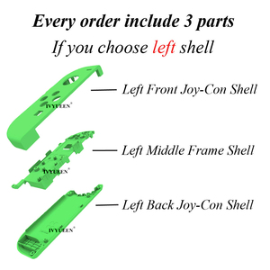 Image 2 - IVYUEEN for Nintend Switch NS Joy Con Replacement Housing Shell Case for JoyCons Controller Cover Green Pink White Repair Parts
