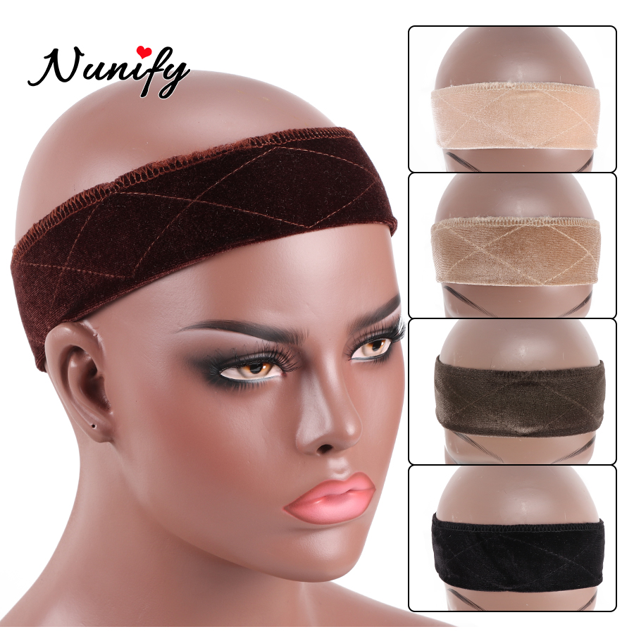 1Pcs Diverse Color Wig Band Nunify Brand Velvet Wig Grip Band Extra Hold Soft Comfortable Headband For Washing Head