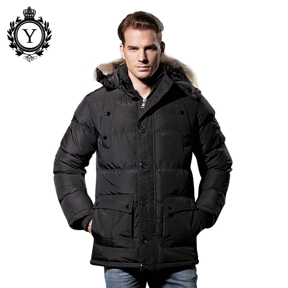 COUTUDI 2017 Men's Clothing Long Winter Jacket Brand Men Windbreaker Fashion Jacket Coat Solid Male Furry Hooded Coats and Parka